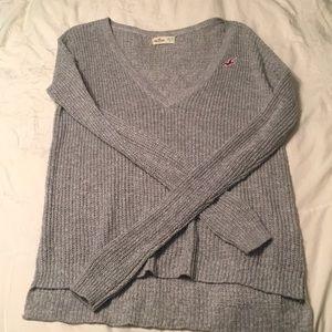 Tops - Hollister gray sweater v neck